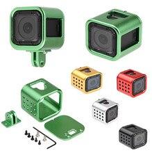 ללכת אביזרי מצלמה פרו 2016 חדש מסגרת המצלמה Gopro Hero 4 מושב אלומיניום מעטפת מגן עם אבזם מהיר
