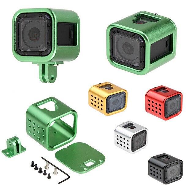Ir pro Câmera acessórios 2016 novo quadro Da Câmera Gopro Hero 4 Sessão de Alumínio shell de Protecção com Rápida Fivela