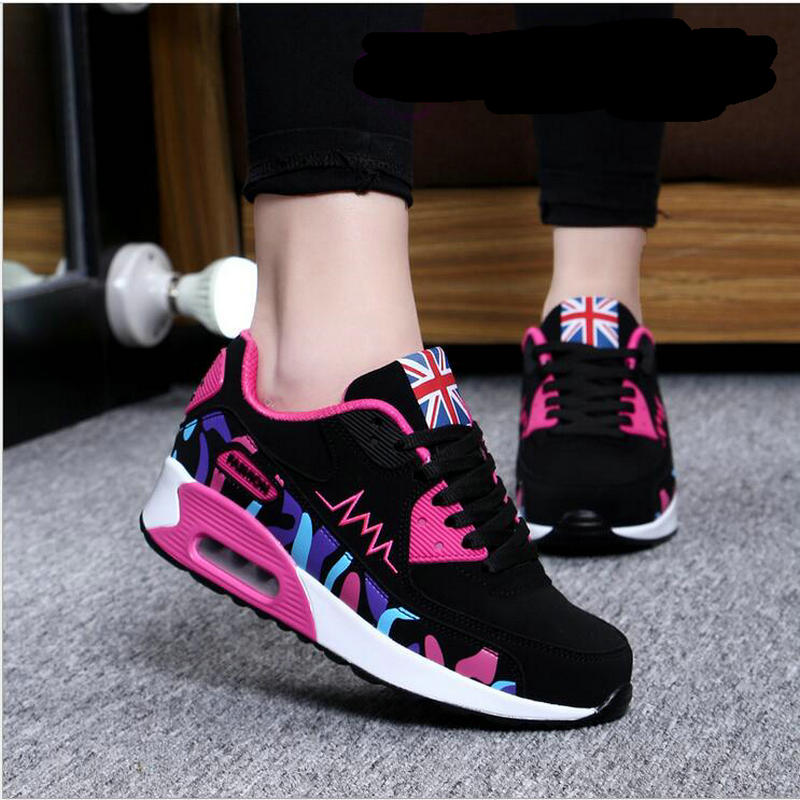 2017 Fashion Flats Women Trainers Breathable Sport Woman Shoes Casual Outdoor Walking Women Flats Zapatillas Mujer Hot Sale 097 2016 hot sale fashion women walking shoes summer lightweight breathable women casual shoes flats zapatos mujer trainers r013