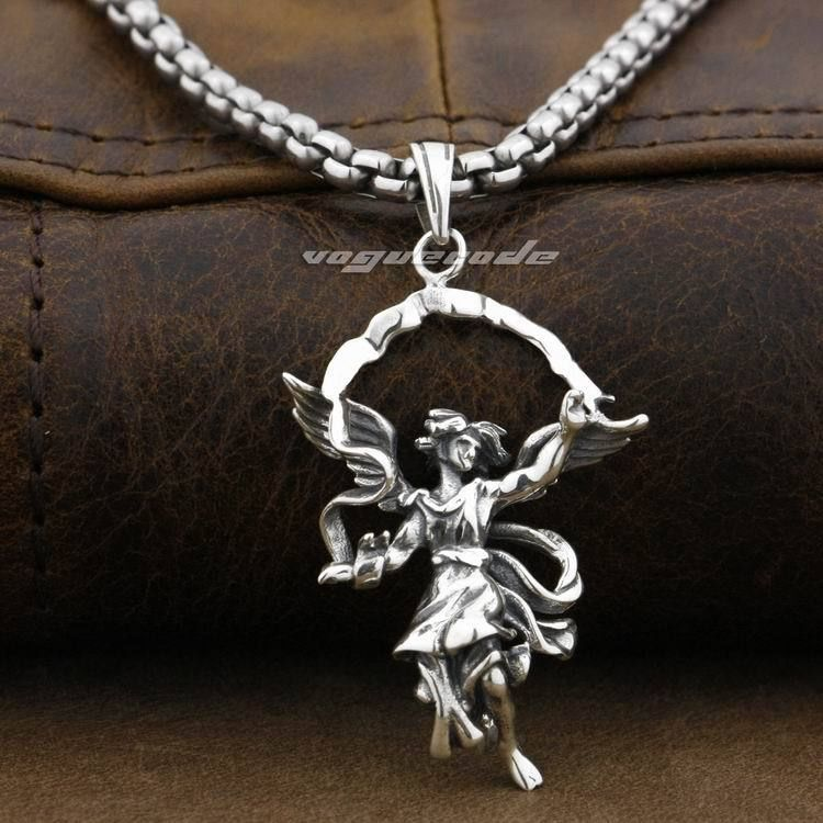 925 sterling silver heaven guardian wing angel pendant 9f003 925 sterling silver heaven guardian wing angel pendant 9f003necklace 24inch in pendants from jewelry accessories on aliexpress alibaba group aloadofball Image collections
