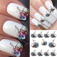 Brand New DIY Vines Flower Water Transfer Nail Art Decals Tips Stickers Manicure Sheet 8F1A