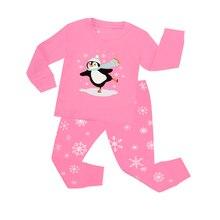 534f12a5970b7 Nouveaux Enfants À Manches Longues Pyjamas De Noël Enfants Pingouin De Noël  Vêtements Ensembles Bébé Père Noël Pyjama Pyjama Enf..