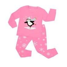 806b64981d080 TINOLULING 100% coton bébé pyjamas enfants pingouin pijama noël vêtements de  nuit filles vêtements de