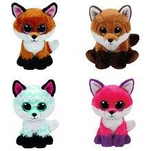3540d6e7a1b Ty Beanie Boos Piper Joey Fay Slick Fox Plush Toy Cute Big Eyes Stuffed  Animals 15cm