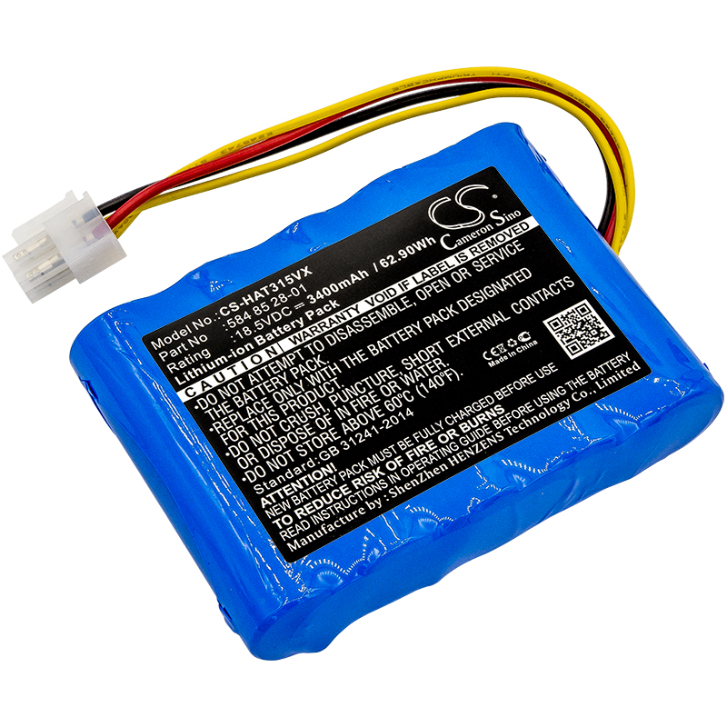 Cameron Sino Upgrade For Husqvarna 584 82 28-02,584 85 28-01 Vacuum Battery Li-ion 3400mAh / 62.90WhCameron Sino Upgrade For Husqvarna 584 82 28-02,584 85 28-01 Vacuum Battery Li-ion 3400mAh / 62.90Wh