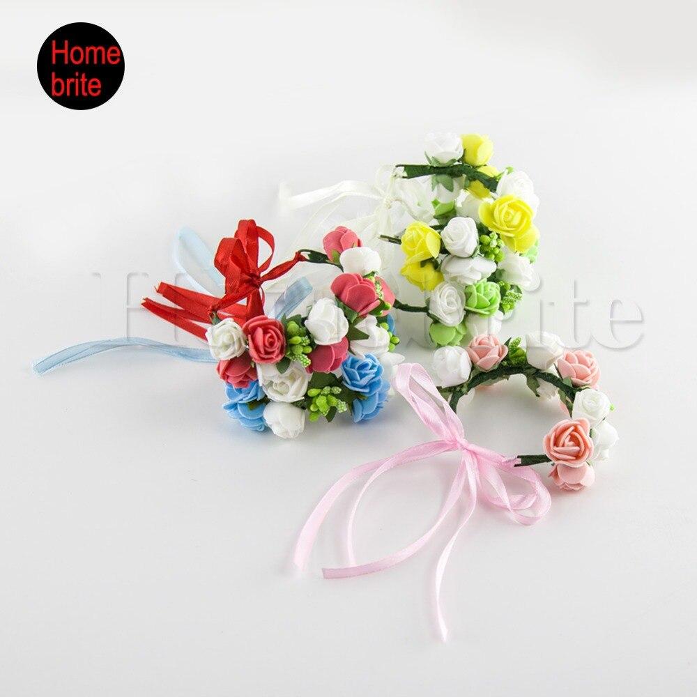 1 Stuck Hochzeit Floral Kranz Braut Armband Brautjungfern Blumen