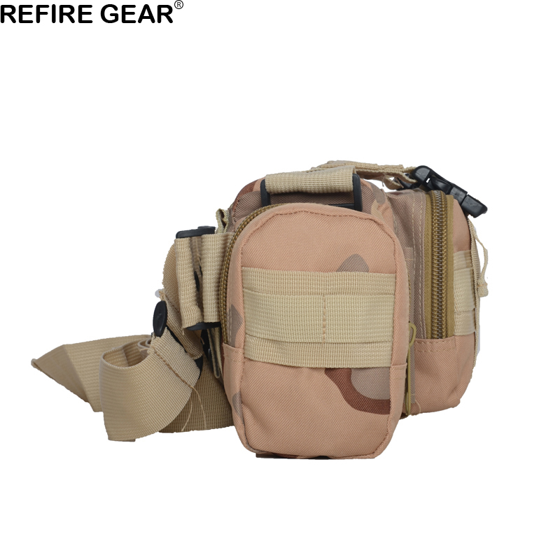 Refire Gear Outdoor Travel Camouflage Bag Multi-function Hiking Fishing Waist Bag Nylon Unisex Molle System Small Climbing Bag