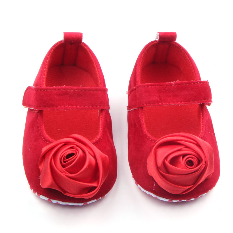 Fashion Baby Girl Shoes Newborn Baby Toddler Shoes Rose Flower Hook & Loop Design Baby Moccasin Shoes Princess Shoes 0-15 Months