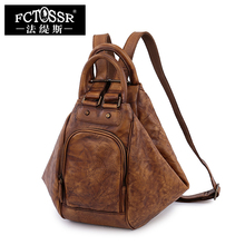 Retro shoulder bag the first layer of leather leisure large capacity handmade bags simple fashion leather backpack