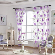 Vines Leaves Tulle Door Window Curtain Drape Panel Sheer Scarf Valances Drapes Living Room Home Decor Sheer Voile Valances 64P(China)