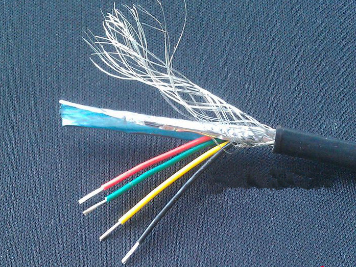 Fasy Free Ship By DHL/EMS 4 Core Shielded Wire RVVP4*1.0 Square Sheathed Lines Signal Wire RVVP Control Line