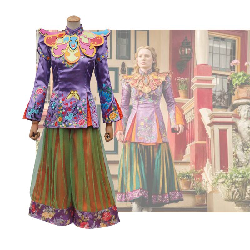 2016 American Fantasy Adventure Film Alice in Wonderland Through the Looking Glass Alice Cosplay Costume For Adult
