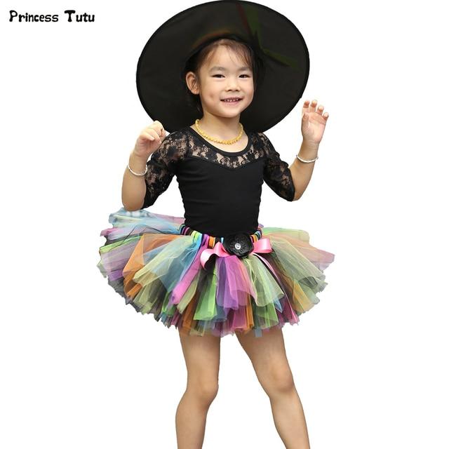 Halloween Princess Girls Tutu Skirt Kids Fluffy Pettiskirt Layer Children Ballet Skirts For Party Dance