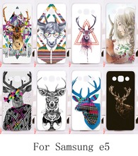New Styles Mobile Phone Cases  for Samsung Galaxy E5 E500 SM-E500F E500H Hard and Siliconpainting Protective Lovely Deer Housing