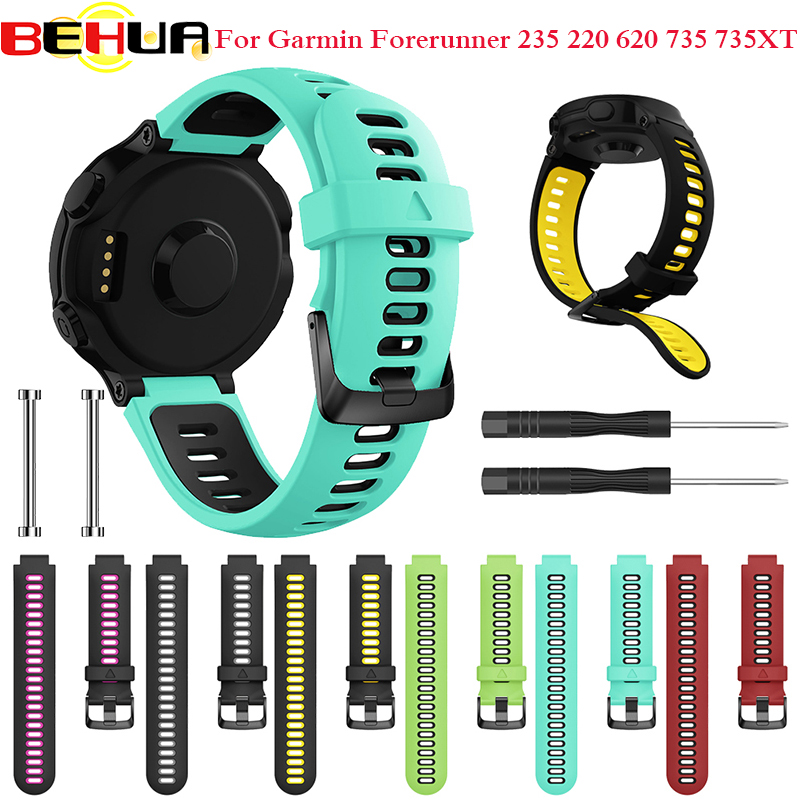 Outdoor Wristband For Garmin Forerunner 735XT 735/220/230/235/620/630 Smart Watch Soft Silicone Strap Replacement Watch Band(China)