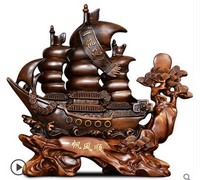 Plain sailing ship up a wooden galleon corsair boss desk decoration office opening gifts water Cicadas decor shop opens statue