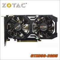 Используется оригинальные ZOTAC GeForce GTX 950 2GD5 Thunder видео карты GDDR5 Графика карты для nVIDIA GTX950 GTX 950 2 GB 1050ti 1050 ti