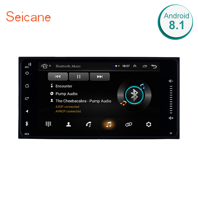 Lecteur multimédia de voiture Seicane pour TOYOTA COROLLA Camry Land Cruiser HILUX PRADO 2din Android 8.1 Radio GPS Navigation