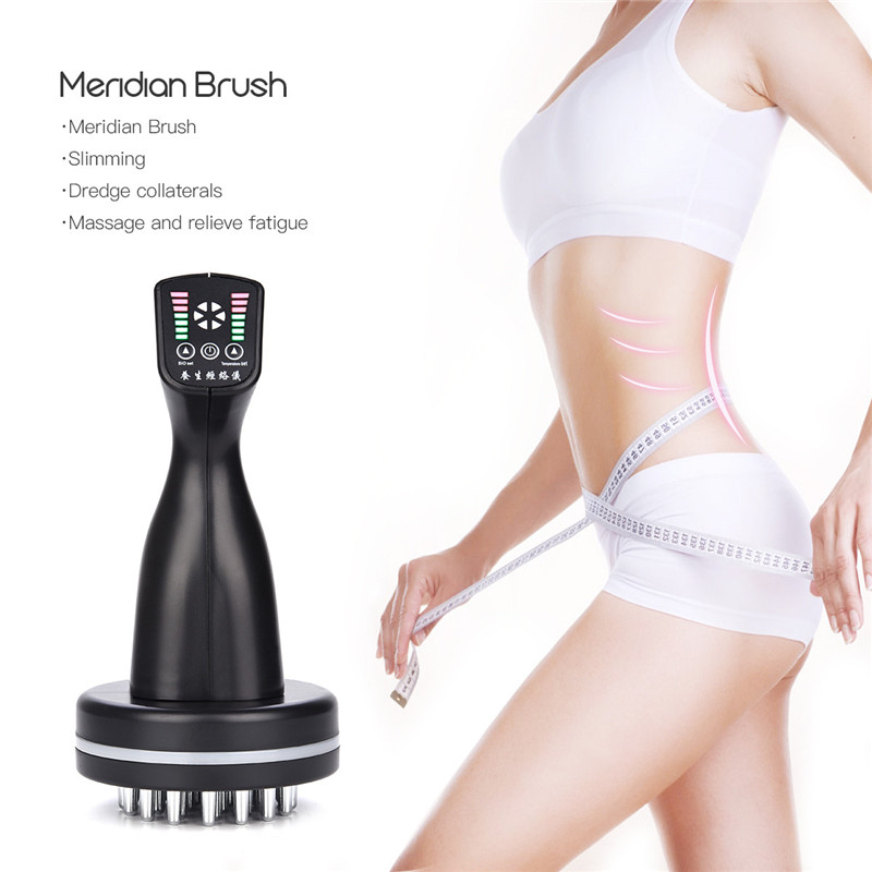 Adjustable Far-infrared Meridian dredge Instrument Microcurrent heating physiotherapy body slimming massage device relief pain46 bio microcurrent meridian scrape therapy infrared body detoxification massage comb electronic acupuncture slimming device