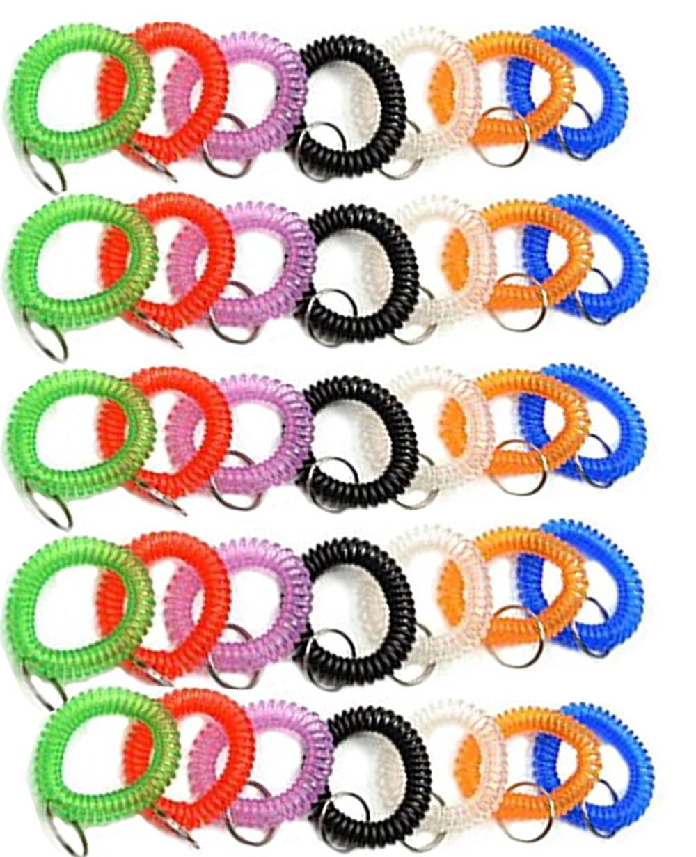 25-47 Length Pack of 10 Gear Keeper TL1-3023-10 3//4 Super Coil Personal Tool Tether//Lanyard with Stainless Steel Locking Carabiner Side Release Lanyard and Tool Hanger