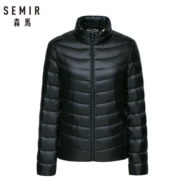 Semir Down Jacket women 2018 Winter New Coat Warm Lightweight 90% Down Jackets  Women Soft d138b5025326