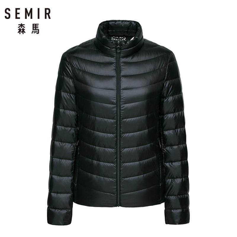 Semir Unten Jacke frauen 2018 Winter Neue Mantel Warme Leichte 90% Unten Jacken Frauen Weiche Frauen Outdoor Kleidung outwear 3 farbe
