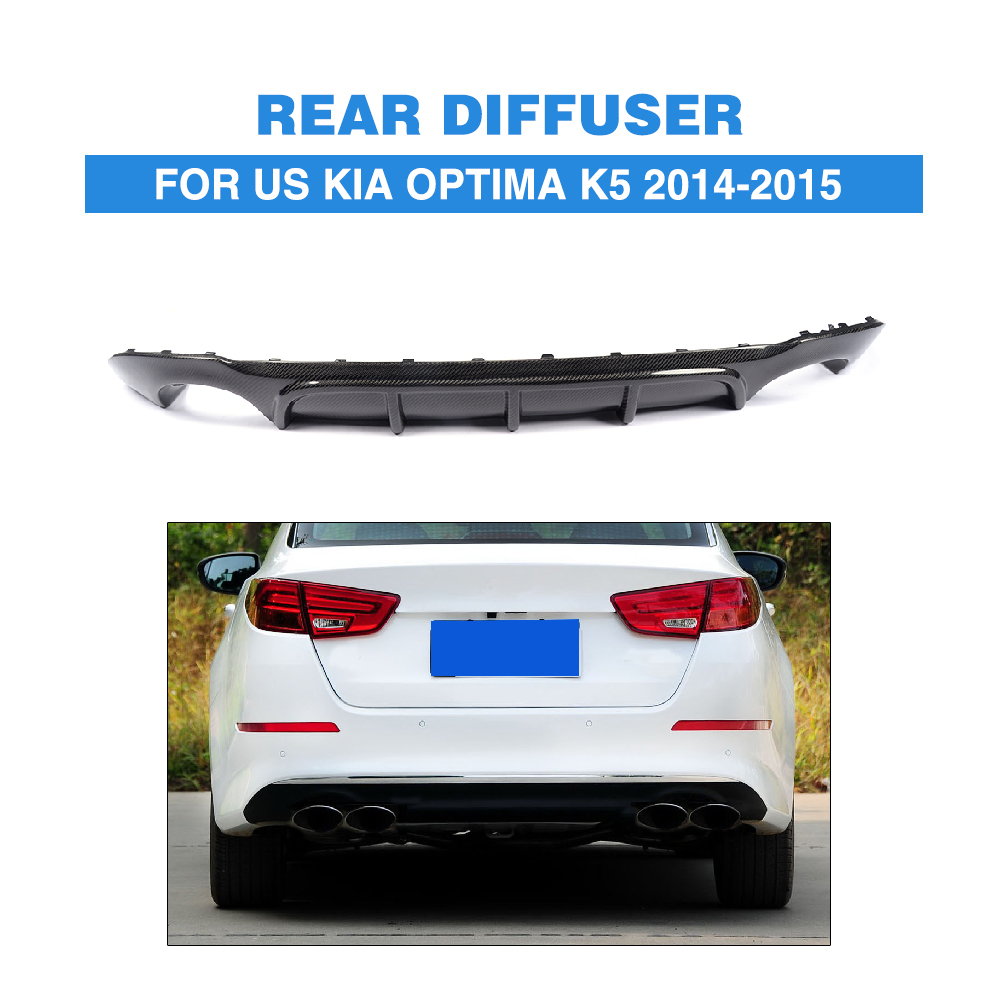 US K5 carbon fiber car rear bumper lip spoiler for KIA,auto rear diffuser fit for US K5(14UP) 2007 bmw x5 spoiler