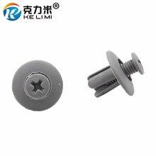 Car Fastener Clip Fit Hole Diameter 8mm Auto Plastic Screw Push-Type Rivet Vehicle Truck Door Clips Bumper Retainer (30pcs)