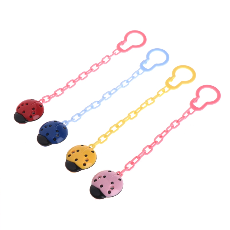 Cute Toddler Baby Ladybug Dummy Pacifier Clip Chain Holder Soother Nipple StrapCute Toddler Baby Ladybug Dummy Pacifier Clip Chain Holder Soother Nipple Strap
