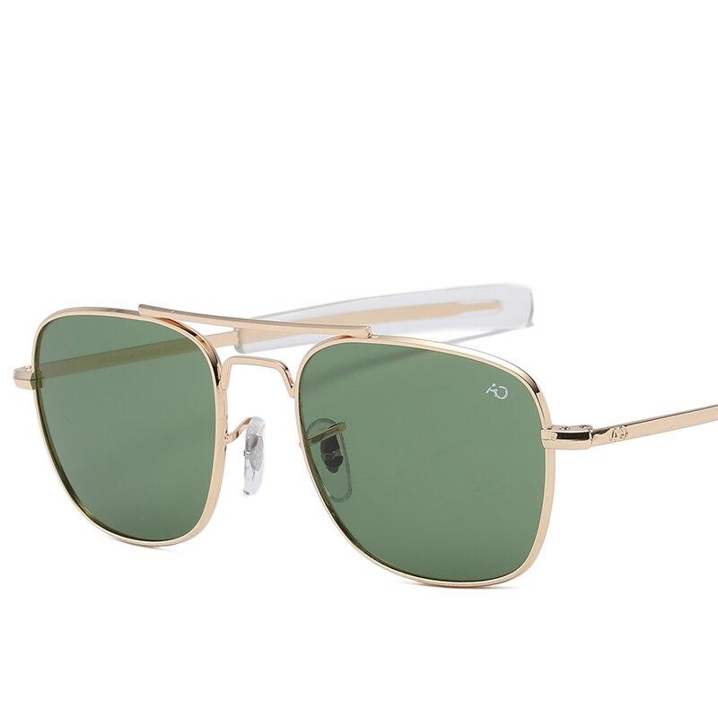 Mode Aviation AO lunettes de soleil hommes de luxe marque Designer lunettes de soleil pour mâle armée américaine militaire optique lentille en verre Oculos