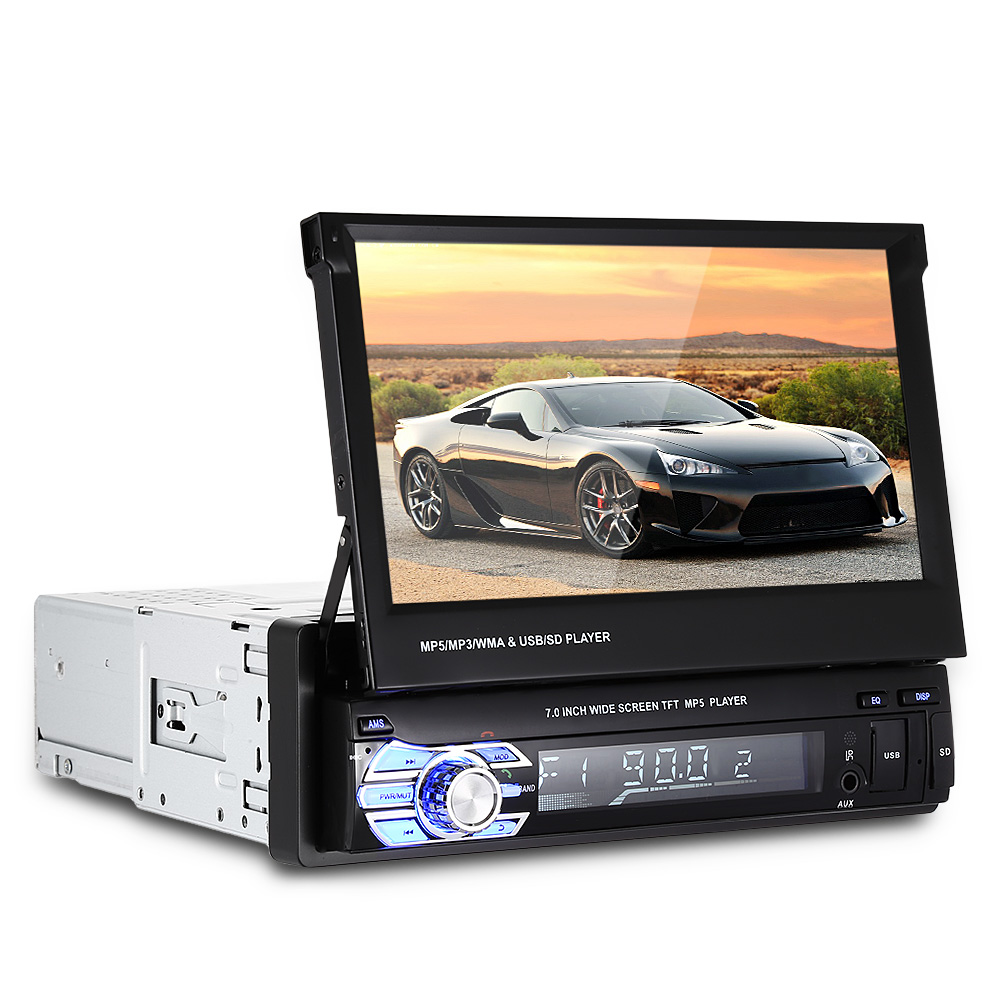 9601 Universal 1 Din Car Multimedia Player Bluetooth FM Radio Audio MP3 MP5 Car Video Player 7 Inch HD Remote Control SD USB autoradio 7 inch 2 din bluetooth lcd hd touch screen car fm mp3 mp5 multimedia video radio player with wireless remote control