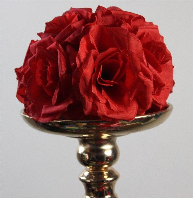 Spr 15 Cm Rouge Elegant Artificielle Soie Sertissage Rose Fleur