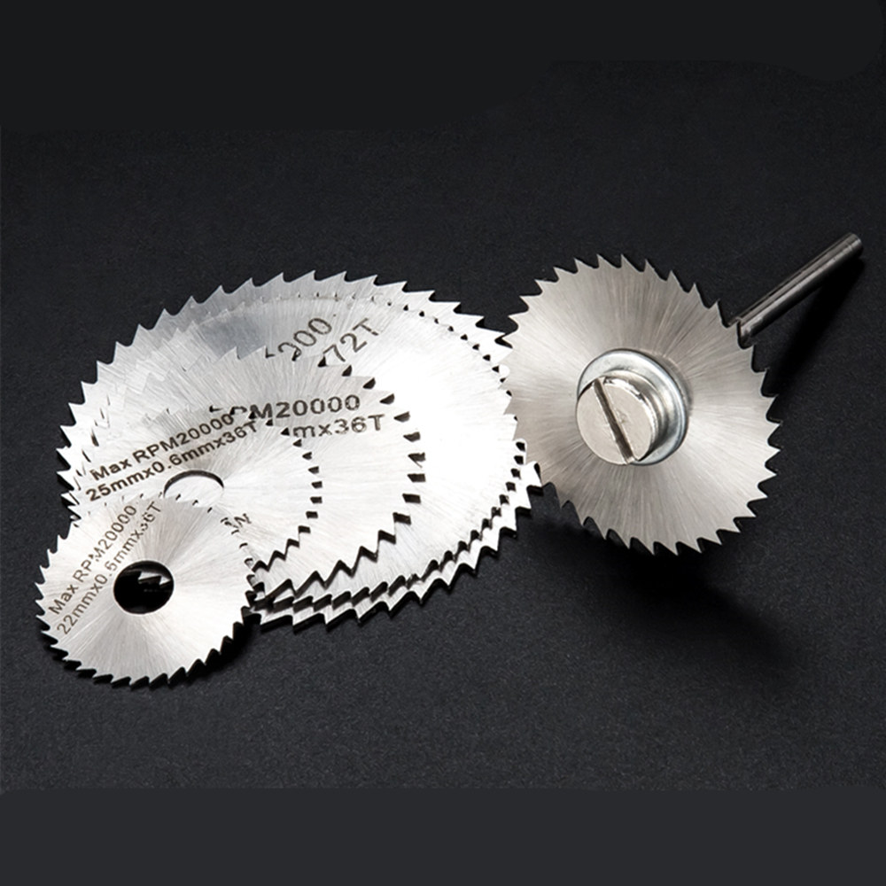 High Speed Steel Cutting Small Ultra-thin Saw Blade 22,25,32,35,44,50mm And 1  Connecting Rod Wood Plastic Metal Sheet