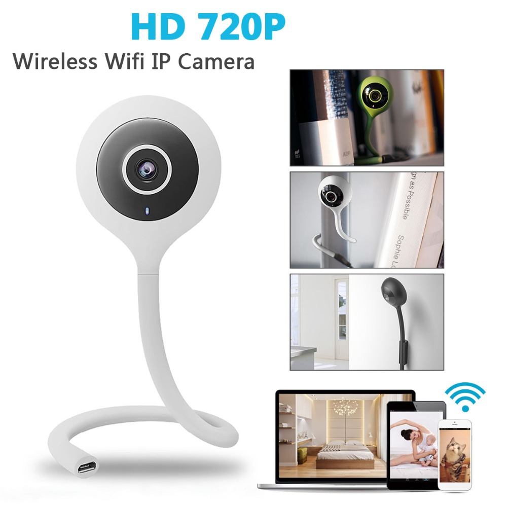 DG-QB01 Mini Flexible 720P 2.1mm Baby Wireless WIFI Smart Home IP Camera Monitor For Babies Care Convenient Three Color dg home 21 см baby bird dg d 811b