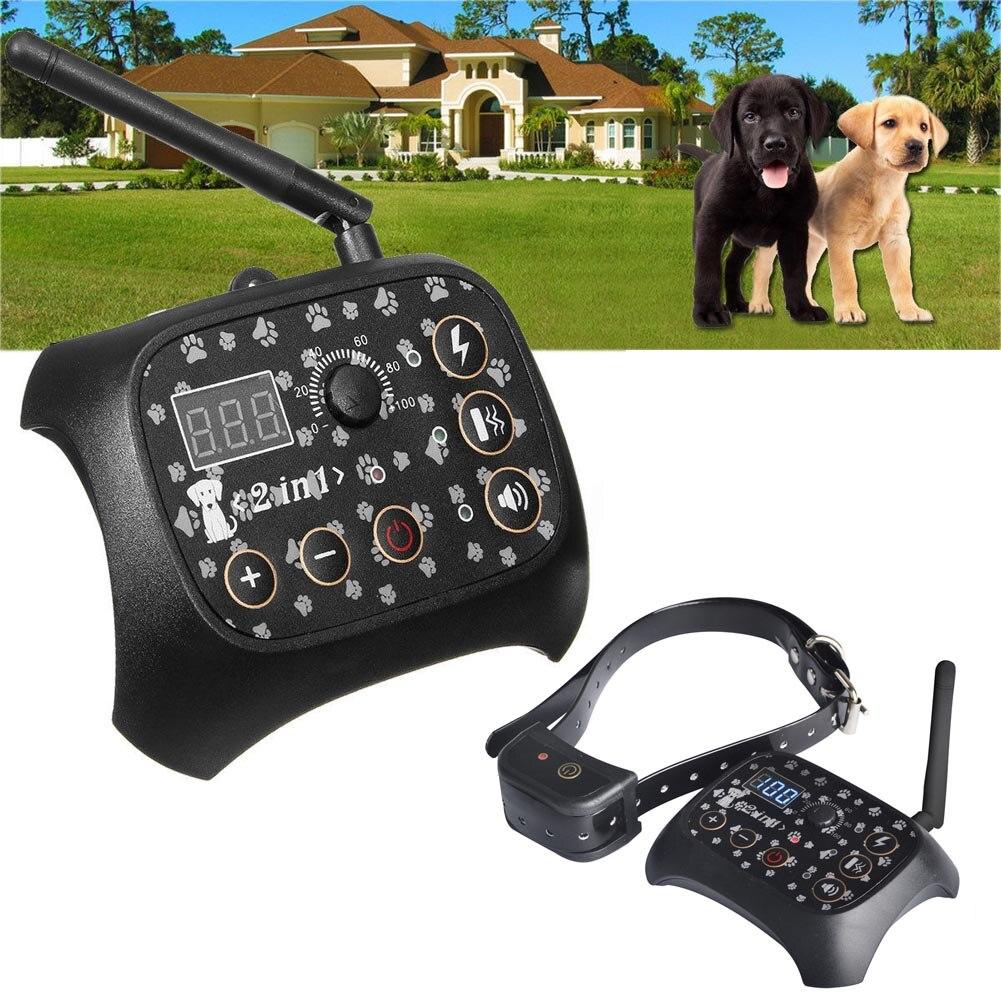 Clôture électronique sans fil Rechargeable système de confinement pour chien collier d'entraînement pour chien MYDING