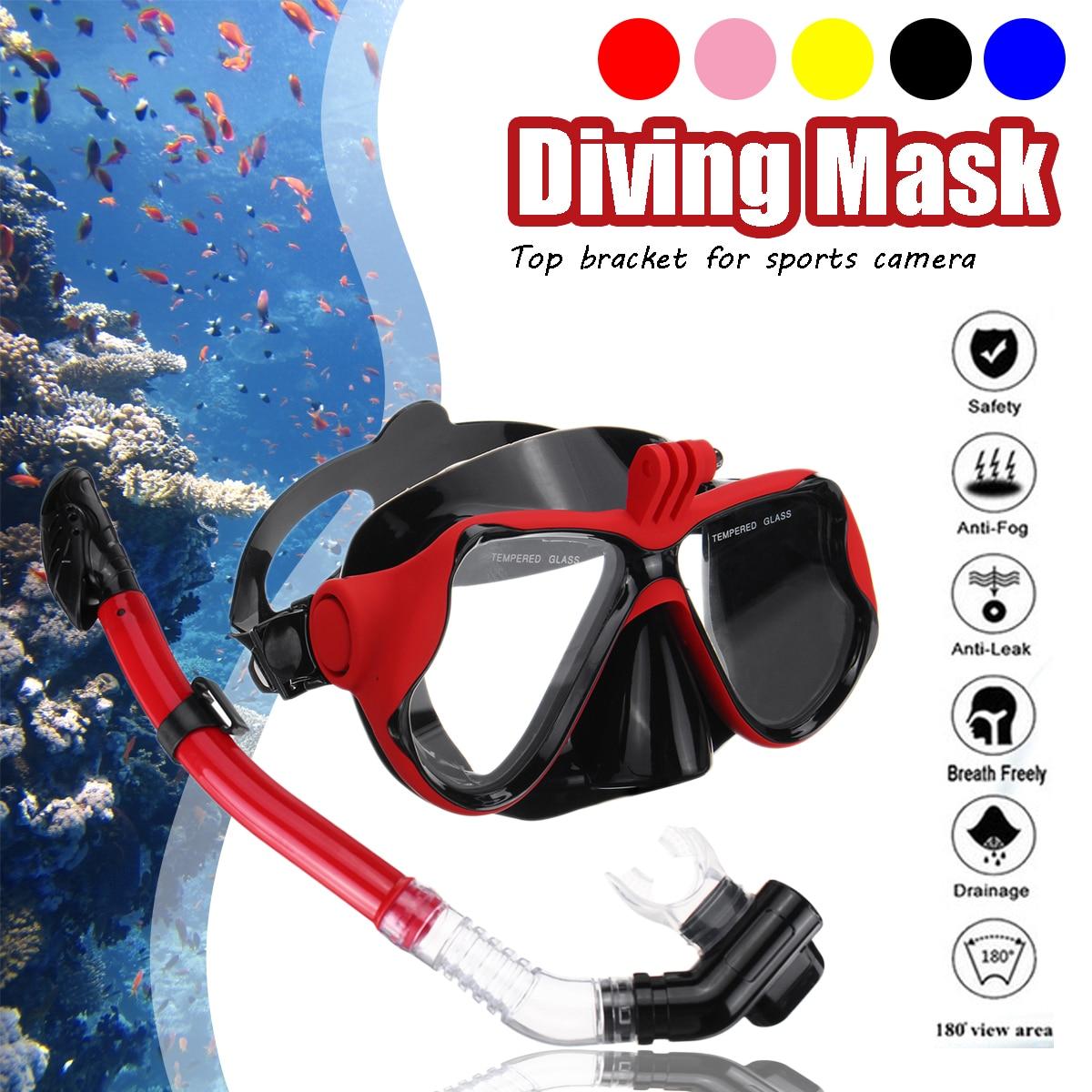 Popular SGODDE Professional Underwater Camera Diving Mask Dive Snorkel Swimming Goggles For GoPro Sports Camera Strap