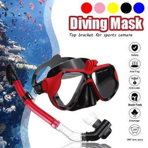 Popular SGODDE Professional Underwater Camera Diving Mask Dive Snorkel Swimming Goggles for GoPro Sports Camera Strap(China)