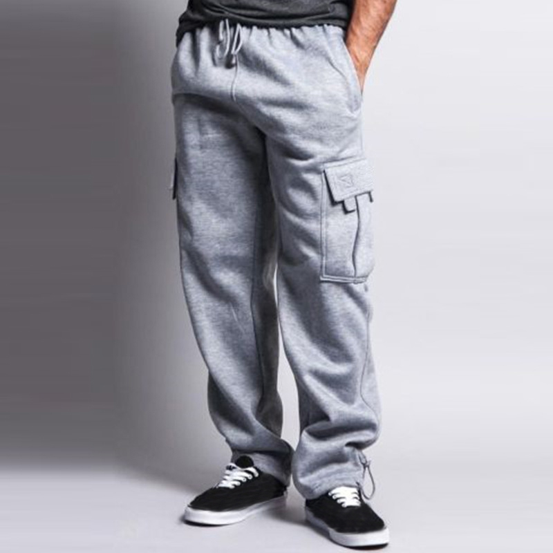 size 40 limited guantity cost charm Winter Warm Thick Velvet Sweatpants Mens Sportswear Baggy ...