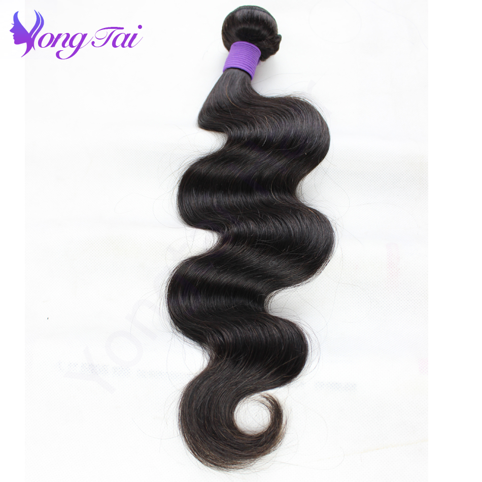 Yuyongtai Hair Malaysian Virgin Hair Body Wave 3 st per lot 100g / - Mänskligt hår (svart) - Foto 6