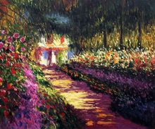 Art Path at Pourville by Claude Monet Handpainted