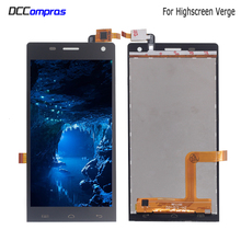 цена на For Highscreen Verge LCD Display Touch Screen Digitizer Sensor Phone Parts For Highscreen Verge Display Screen LCD Free Tools