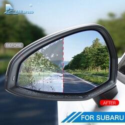 Folia ochronna na lusterko wsteczne samochodu Anti Fog Anti Glare naklejki wodoodporne dla Subaru Forester Outback XV Legacy akcesoria Naklejki samochodowe    -