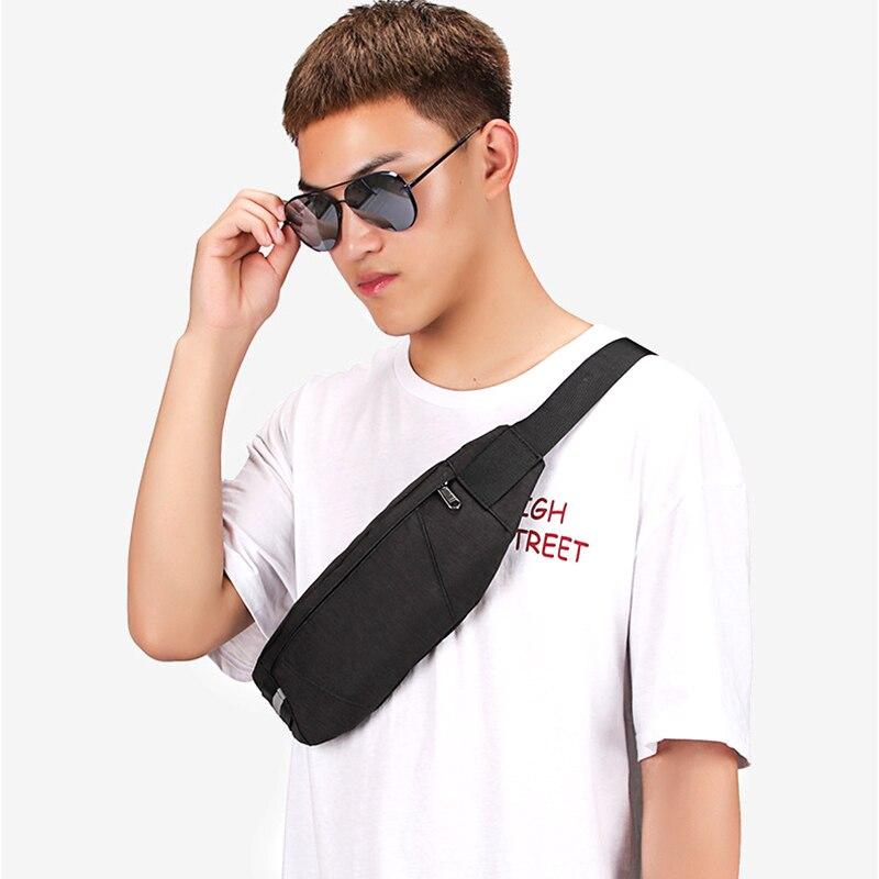 Black Waterproof Waist Bag Men's Wallet Chest Pack Fashion Crossbody Waist Bags Cigarette Case For Phone  Travel Wallets Belt
