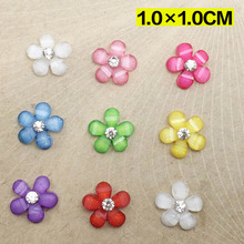 20pcs/LOT resin Crafts 10mm flowers flatback Scrapbooking for phone wedding Decoration