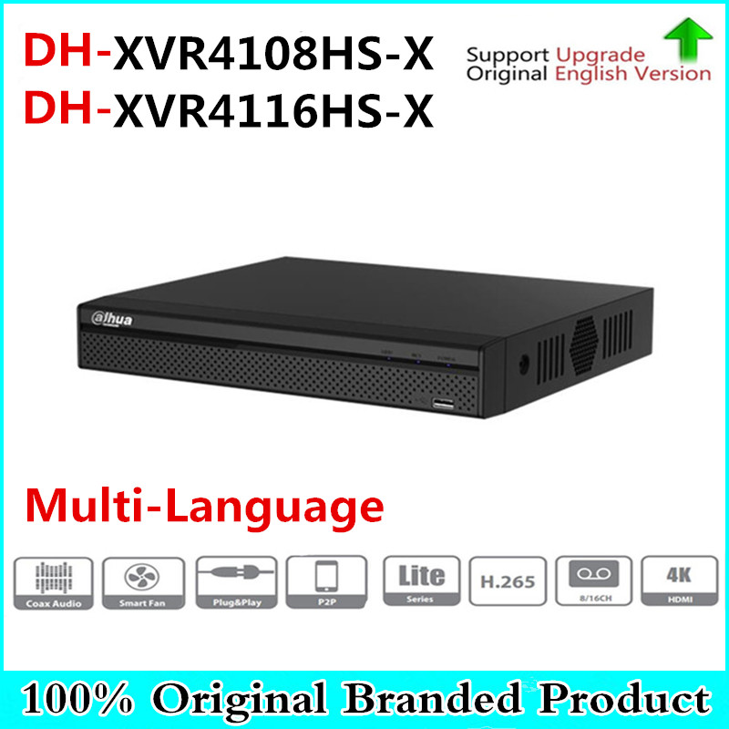 Multi-Language 8/16 CH Penta-brid 720P Compact 1U Digital Video Recorder Supports HDCVI/AHD/TVI/CVBS/IP XVR4108HS-X XVR4116HS-X цена