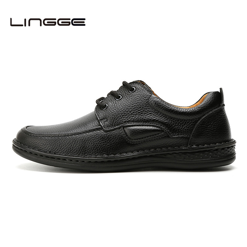 Mens Lace Up  Casual Shoes Leather Lined Brand New Shoes Brown -D.Seek 6068