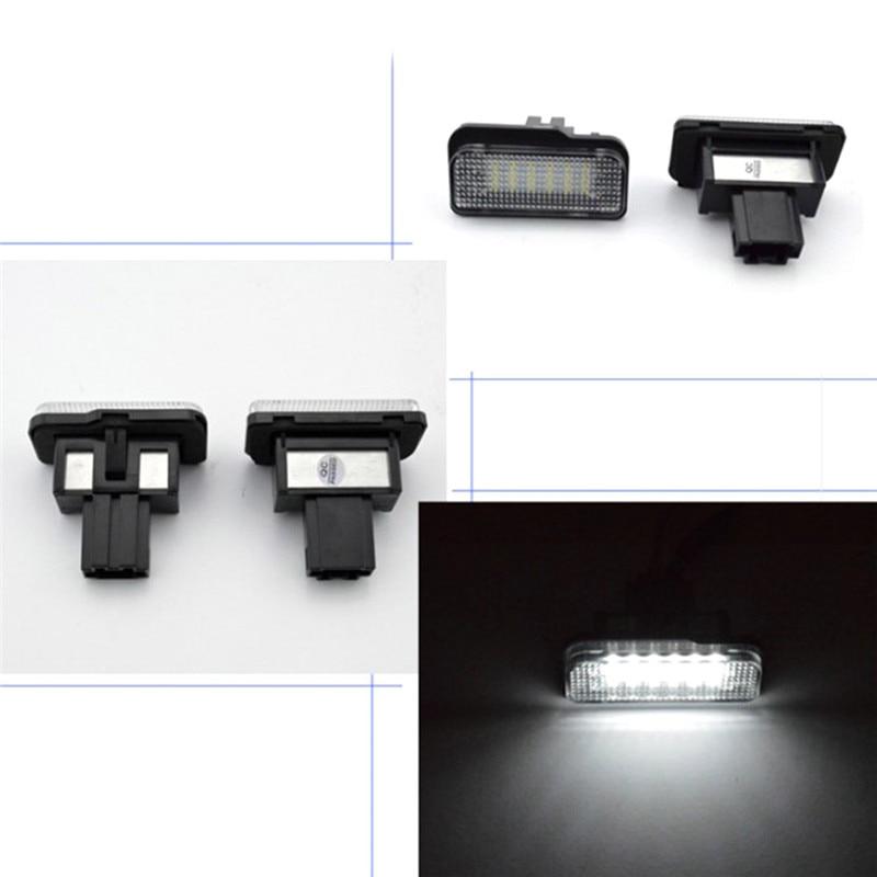 2 pz Luci Della Targa di immatricolazione Plug-N-Play Xenon Bianco Numero di Led Per Auto Benz C E CLS classe W203 W211 W219 E550 E350 Lampada Auto