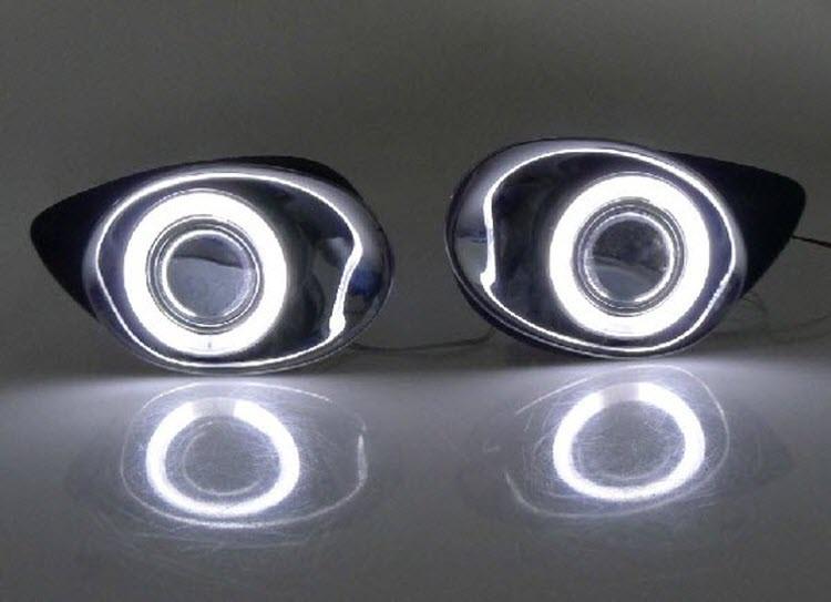 Toyota Yaris Nebelscheinwerfer Versammlung Angel Auge Tagfahrlicht Lampen (2)