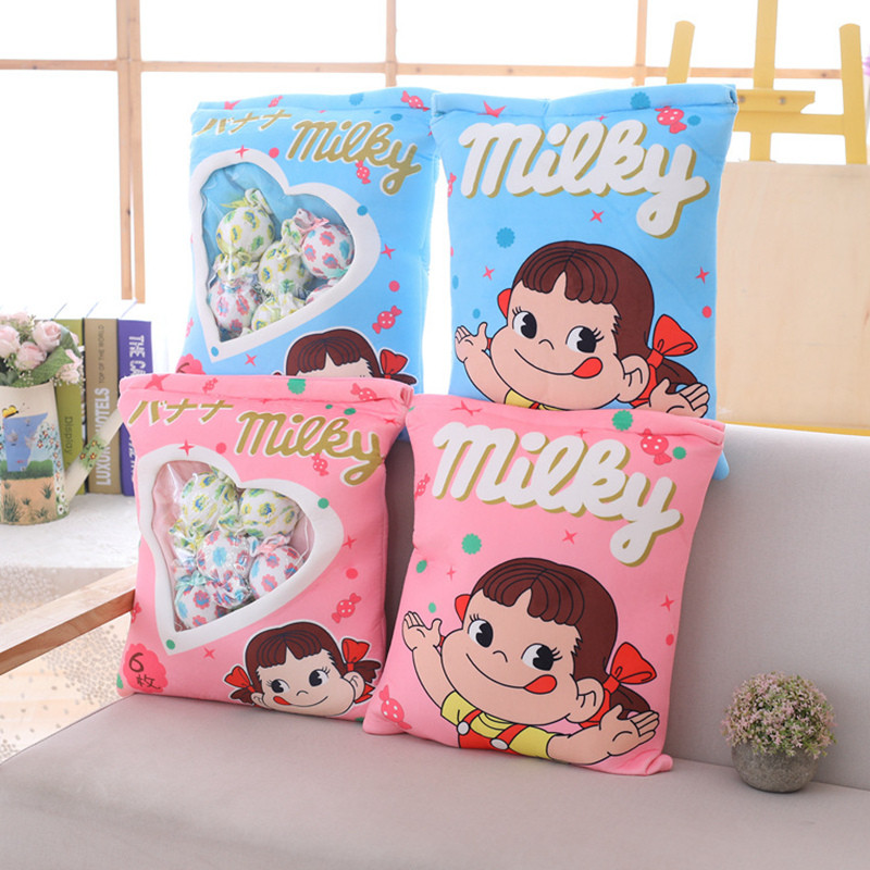 A Bag Of Plush Candy  Pudding Pillow Simulation Stuffed Snack Soft Cushion Candy  Plush Toys For Children Gift For Girlfriend