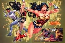 Custom DC Comics Stickers Sexy Wonder Woman Poster Justice League Wall Sticker Cartoon Anime Wallpaper Kids Home Decor #PN#2423#